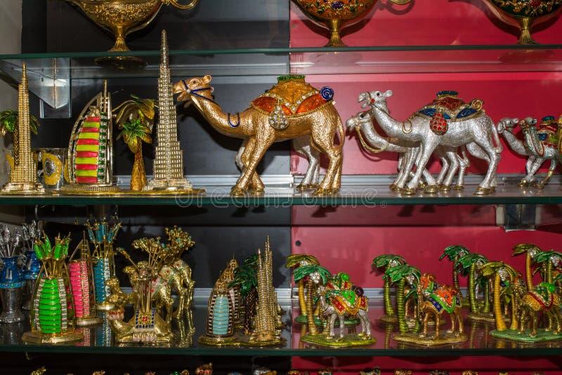 纪念品物品在阿拉伯商店 库存图片