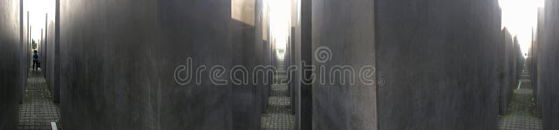 纪念品的全景对欧洲,柏林的被谋杀的犹太人的 库存照片