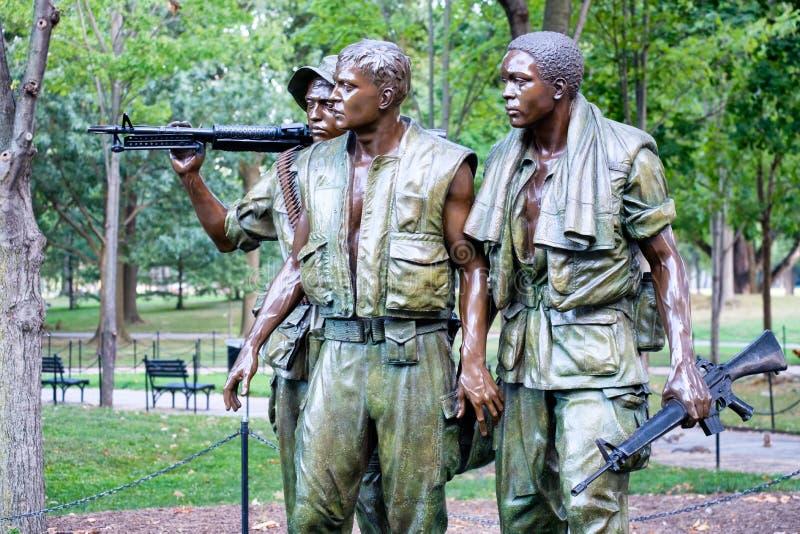 纪念在W的三名军人纪念品越战 图库摄影