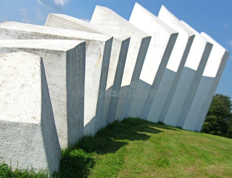 纪念复合体和纪念碑在Kadinjaca,细节 库存图片