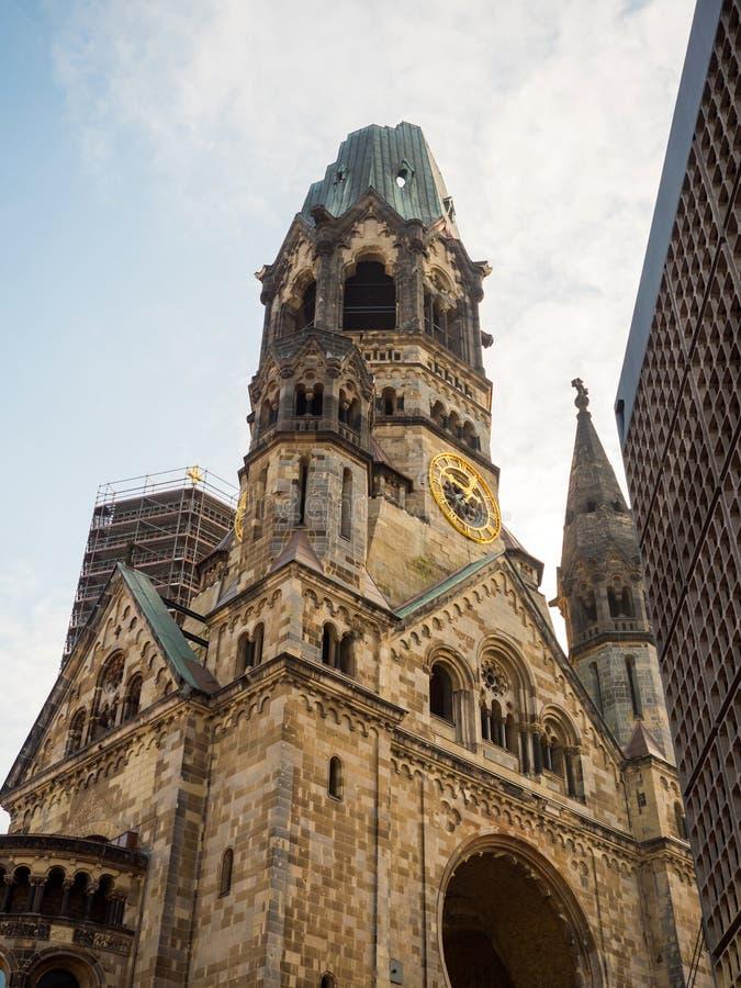 纪念教会在柏林 免版税库存图片