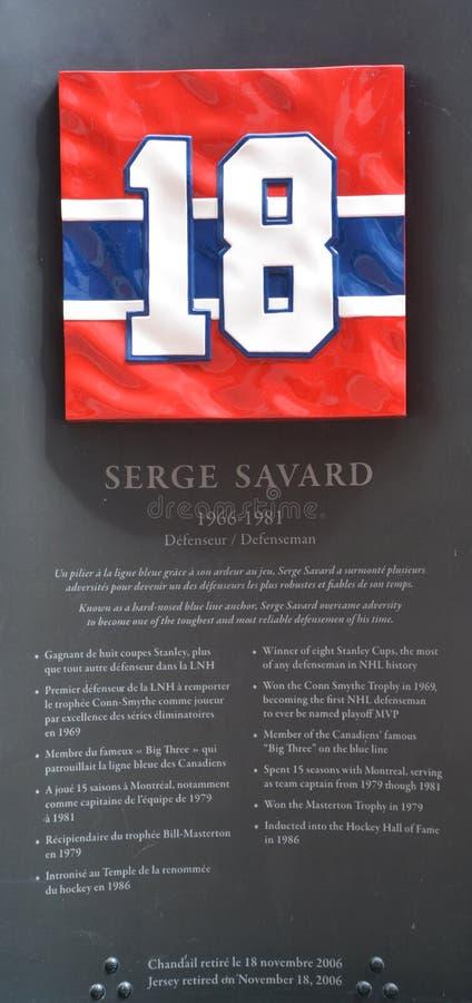 纪念板材毛哔叽18参议员Savard 库存图片