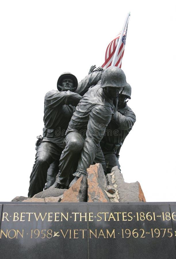 纪念的海军陆战队员 库存照片