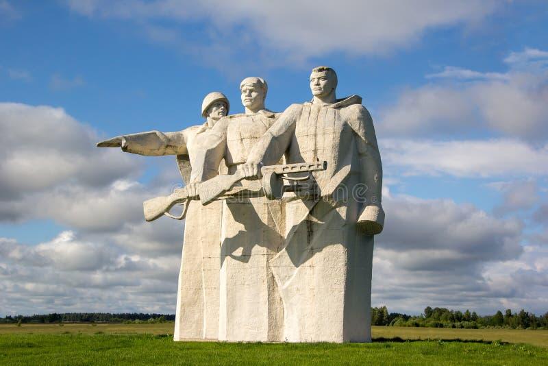 纪念碑到28 Panfilovtsi 库存照片