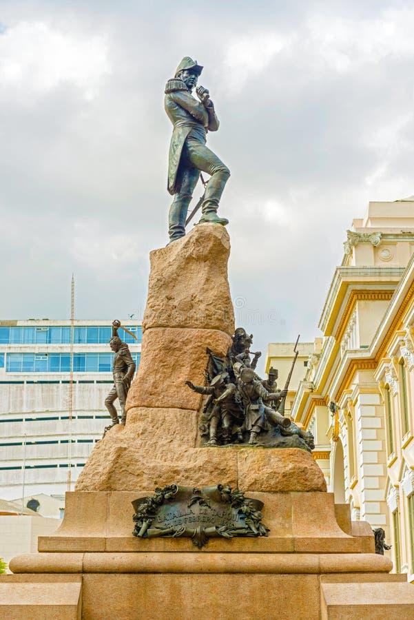 纪念碑向马里苏克雷在瓜亚基尔,厄瓜多尔 库存图片