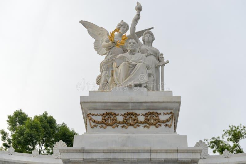 纪念碑向贝尼托华雷斯-墨西哥城 免版税库存图片
