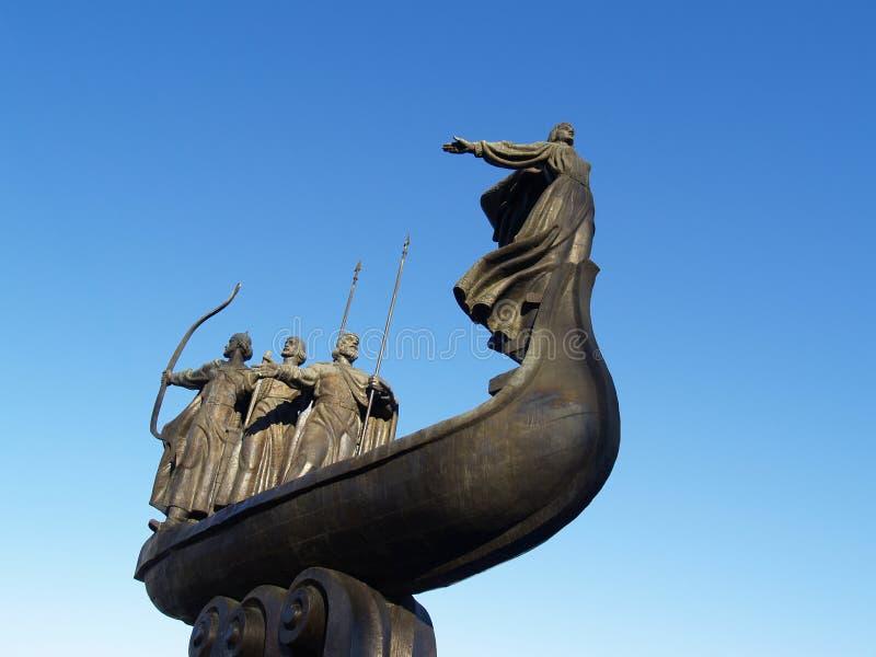 纪念碑在基辅 库存图片