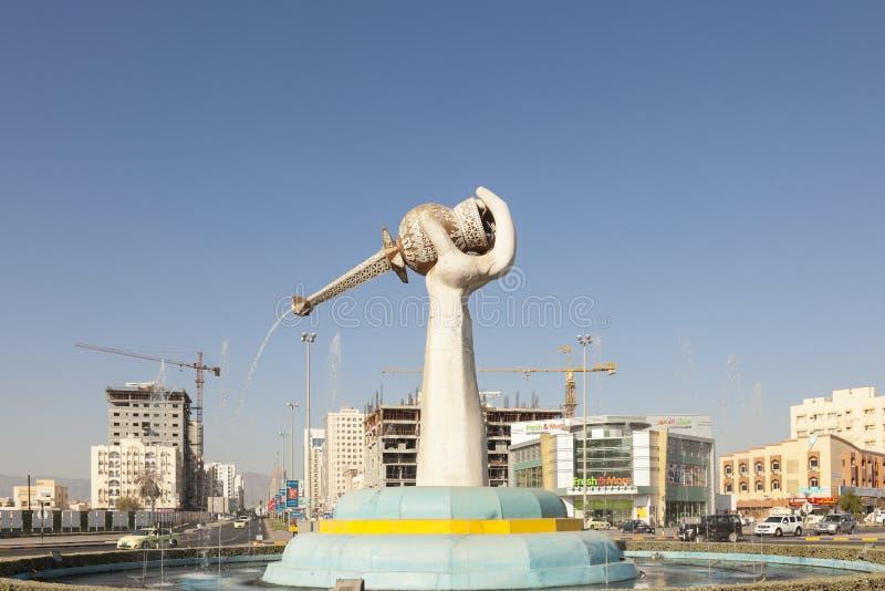 纪念碑在富查伊拉,阿拉伯联合酋长国 免版税库存照片