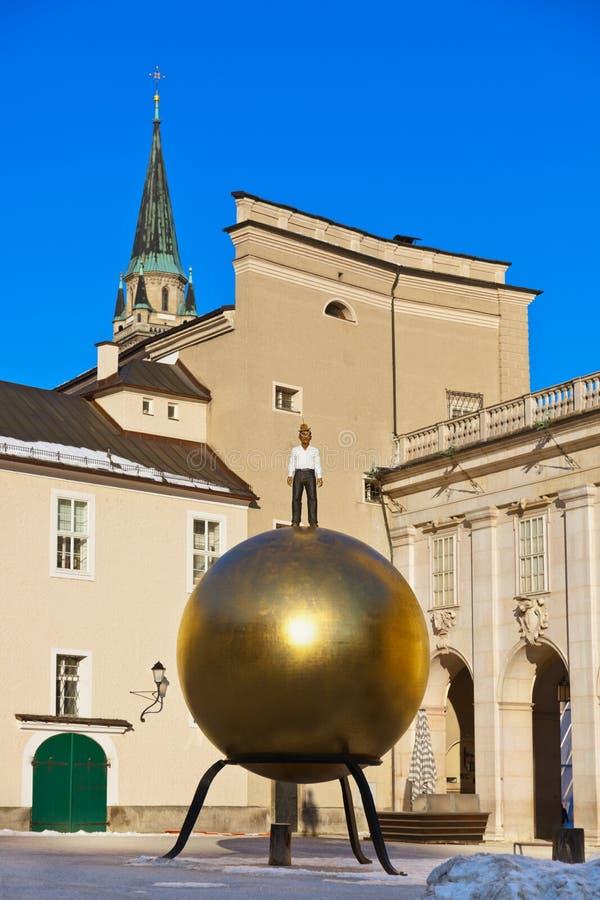 纪念碑在萨尔茨堡奥地利 免版税库存图片