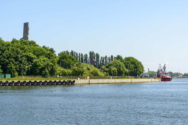 纪念碑在Westerplatte 免版税库存照片