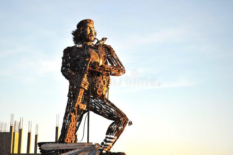 纪念碑埃内斯托切・格瓦拉在拉巴斯 免版税库存照片