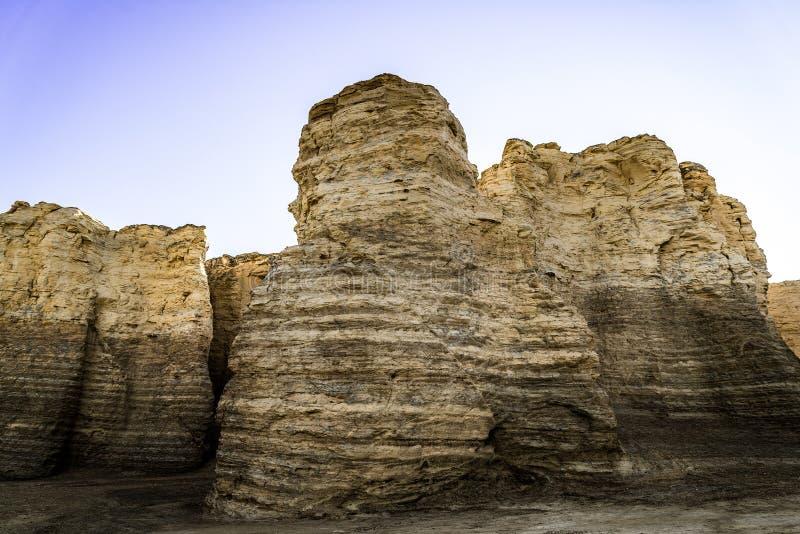 纪念碑岩石白垩金字塔 库存图片