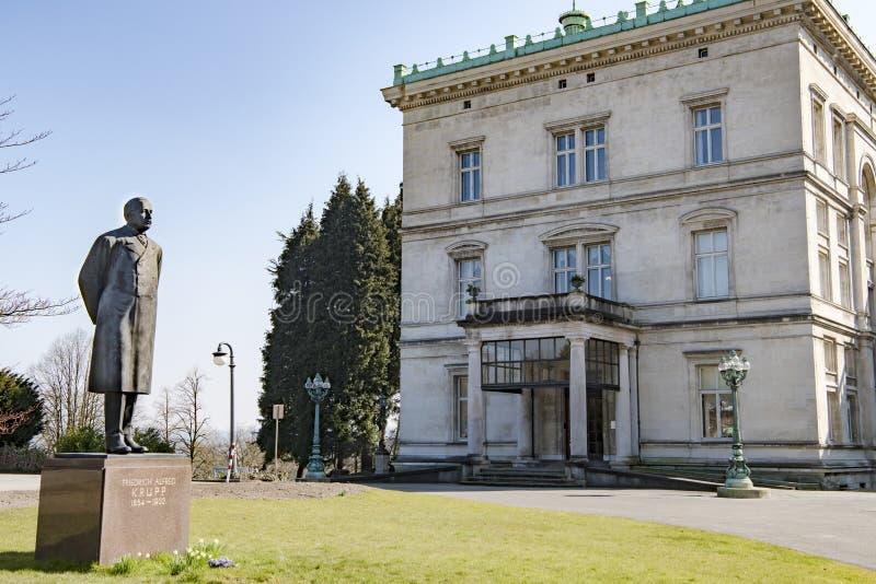 纪念碑弗里德里克克虏伯和别墅Huegel,埃森 图库摄影