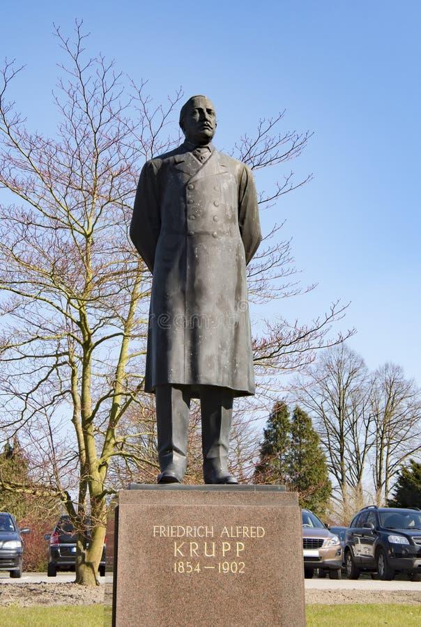 纪念碑弗里德里克阿尔弗莱德克虏伯,埃森 免版税库存图片