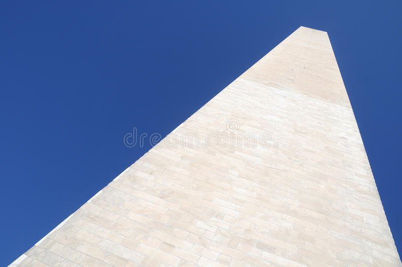 纪念碑新看法华盛顿 免版税库存照片