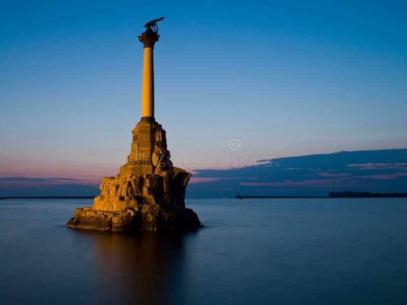 纪念碑水手塞瓦斯托波尔 图库摄影