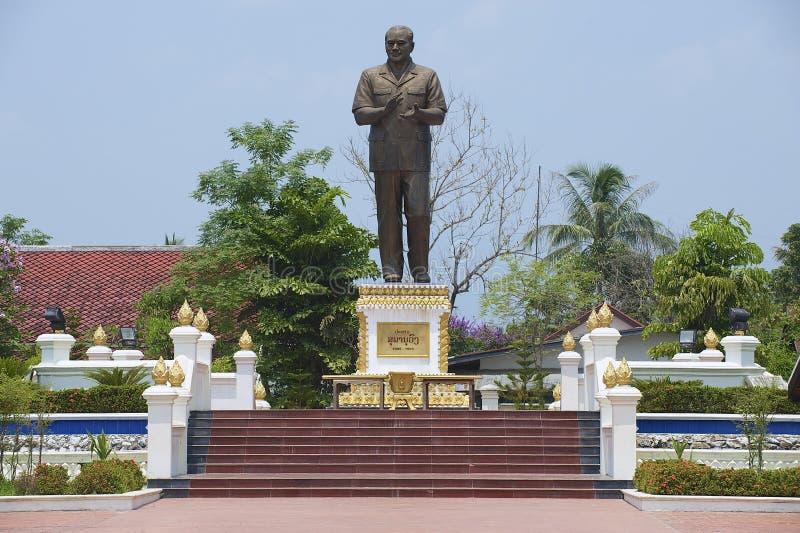 纪念碑的外部对老挝人民民主共和国先生的第一位总统的 Supanuvong 免版税库存照片