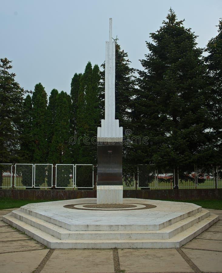纪念碑致力了WW2受害者在泰梅林,塞尔维亚 库存图片