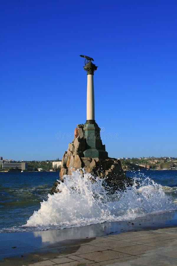 纪念碑船下沉 图库摄影