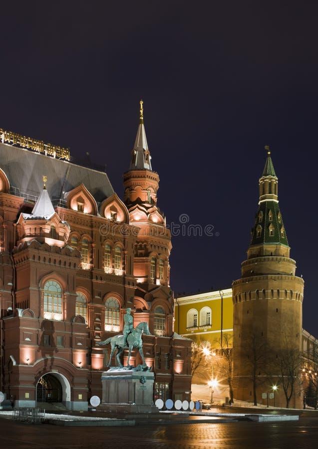 纪念碑莫斯科zhukov 库存图片