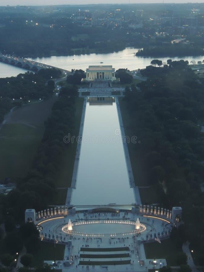 纪念碑视图华盛顿 免版税图库摄影