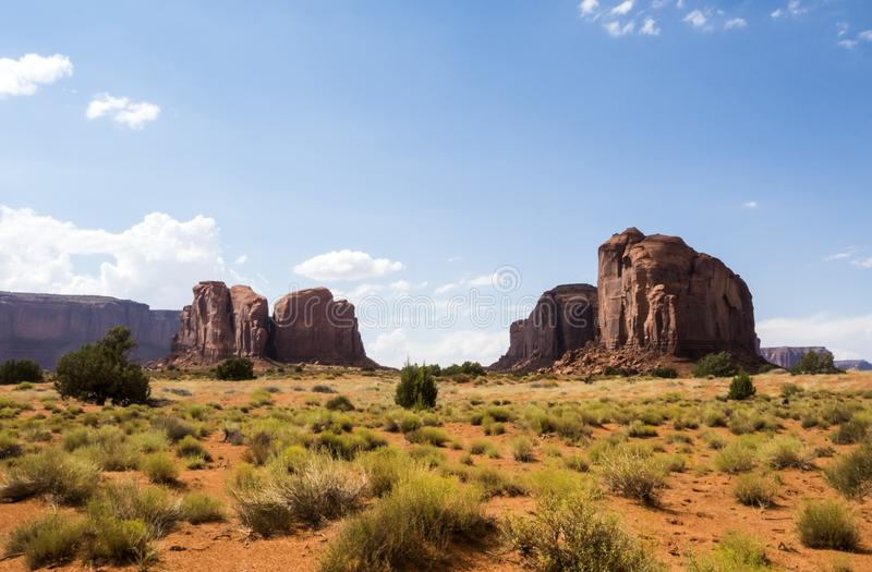 纪念碑谷全景-亚利桑那, AZ 免版税库存照片