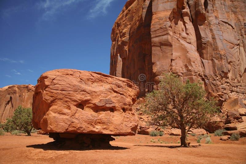 纪念碑谷国家公园,沙漠在犹他,美国 免版税库存图片