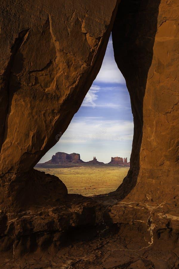 纪念碑谷国家公园mesas看法  库存图片