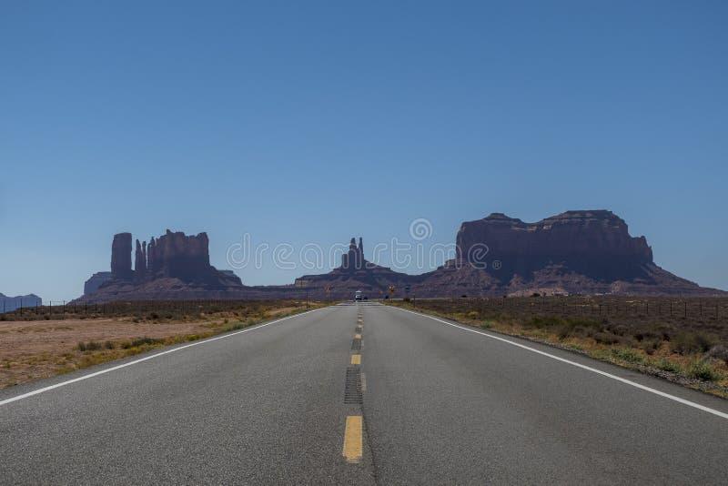 纪念碑谷高速公路163 免版税库存照片