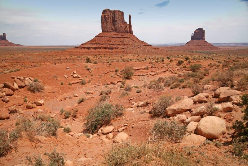 纪念碑谷,沙漠峡谷在犹他,美国 库存图片