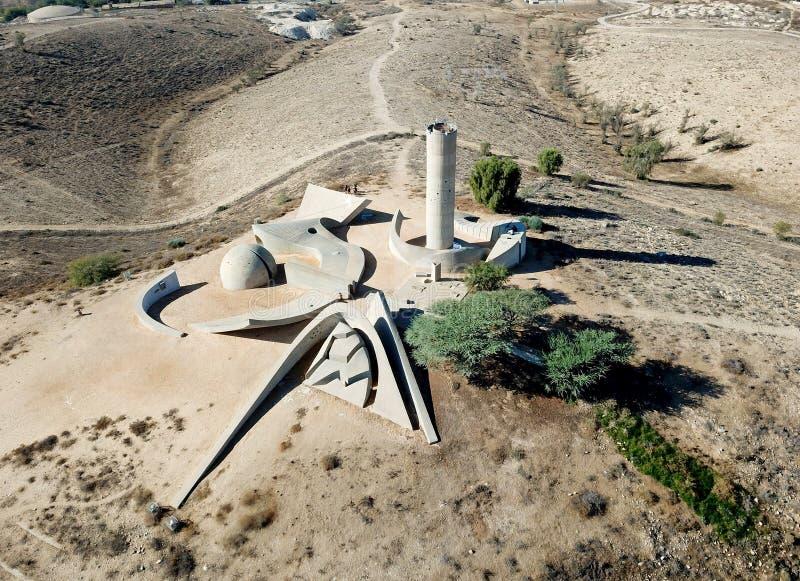 纪念碑顶视图对内盖夫旅团的 库存照片