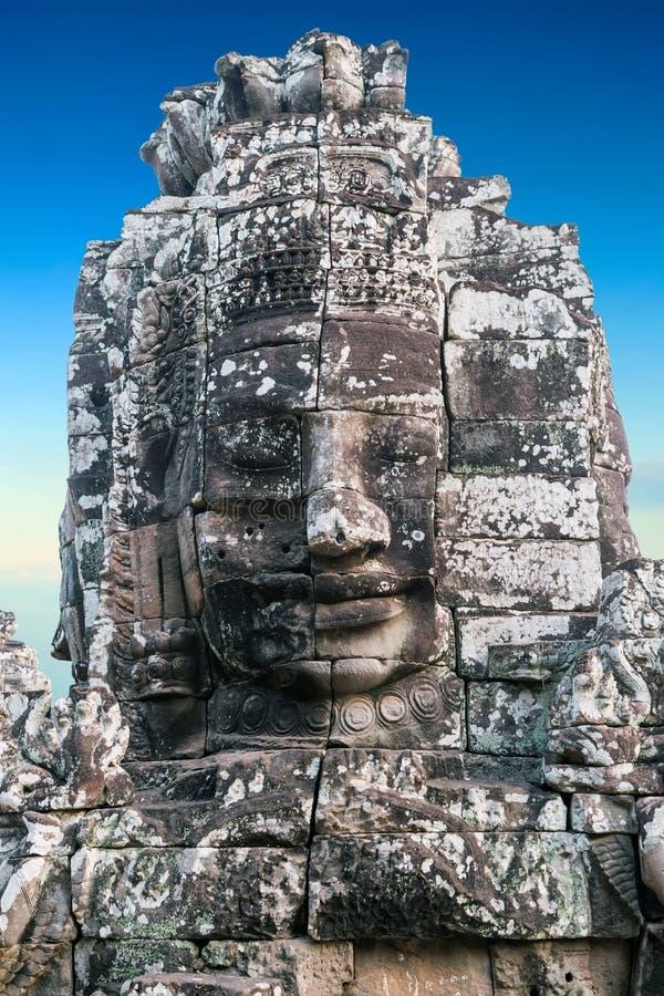 纪念碑Bayon寺庙,吴哥,柬埔寨 免版税库存图片