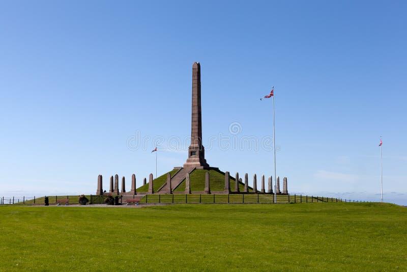 纪念碑Haraldskhaugen 海于格松 挪威 免版税图库摄影