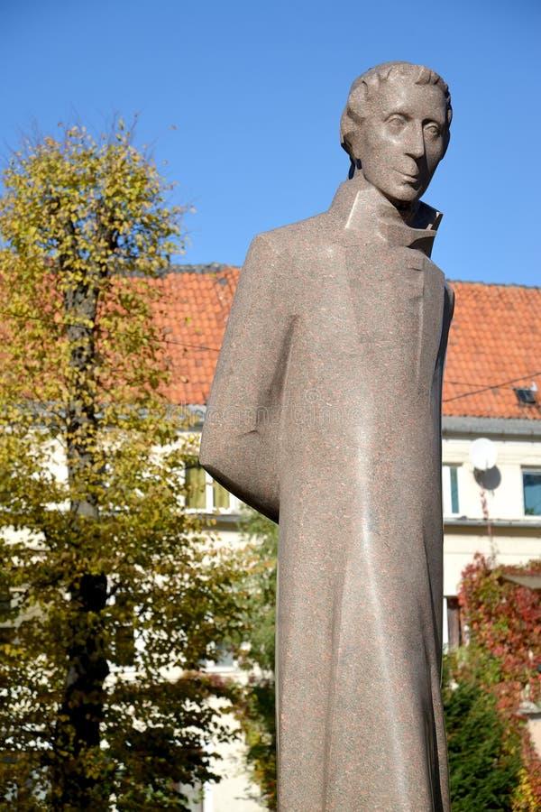 纪念碑Lyudvikasu礼萨(路德维希礼萨) (1776-1840)在加里宁格勒 免版税库存图片