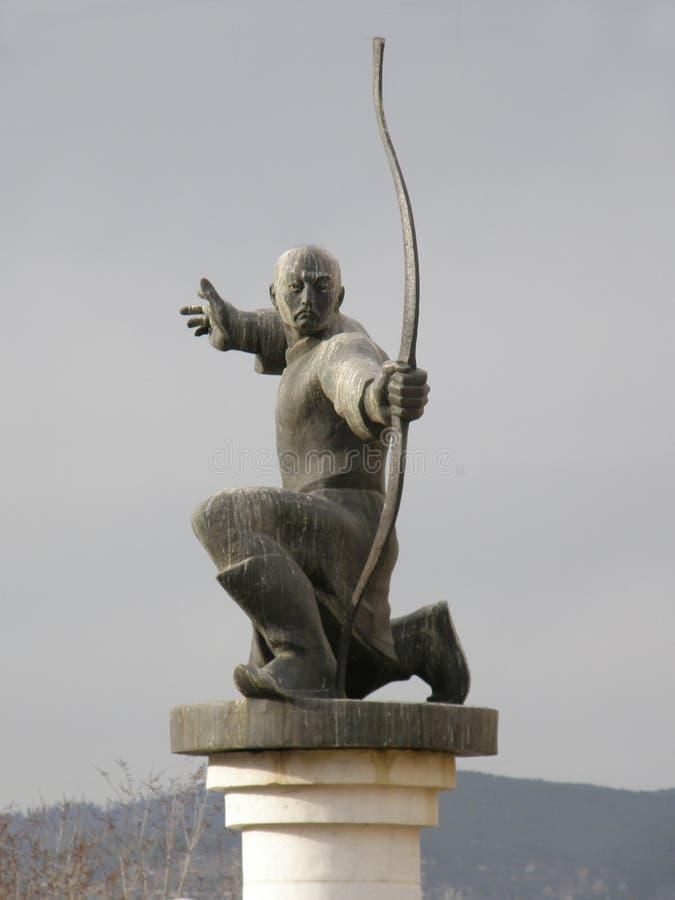 纪念碑Mergen -射手 乌兰乌德 布里亚特共和国 免版税图库摄影