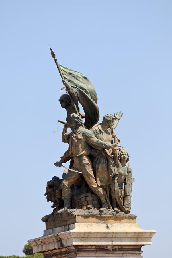 纪念碑Vittorio Emanuele II 免版税库存照片