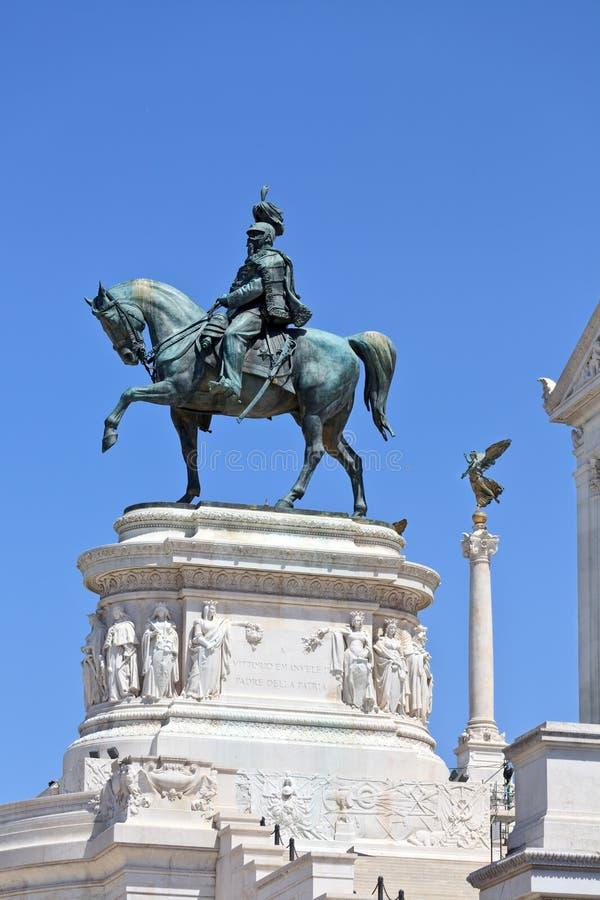 纪念碑Vittorio Emanuele II 免版税库存图片