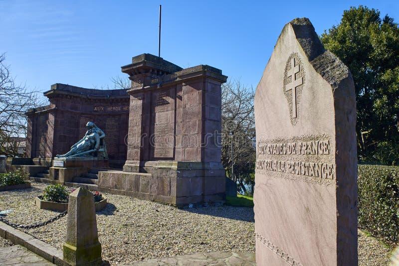 纪念纪念碑致力了谁在大帝中丧生 免版税图库摄影