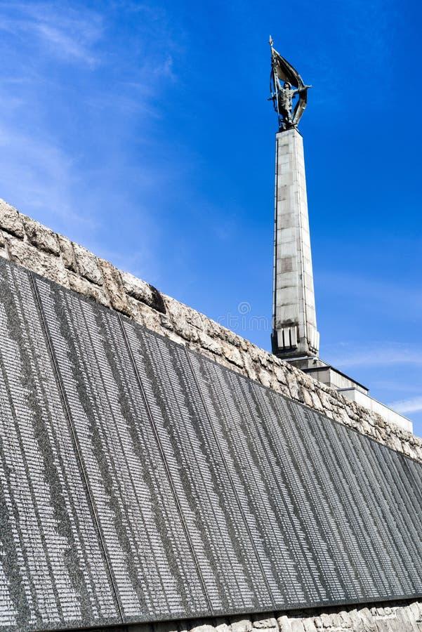 纪念纪念碑Slavin在布拉索夫-斯洛伐克 库存照片