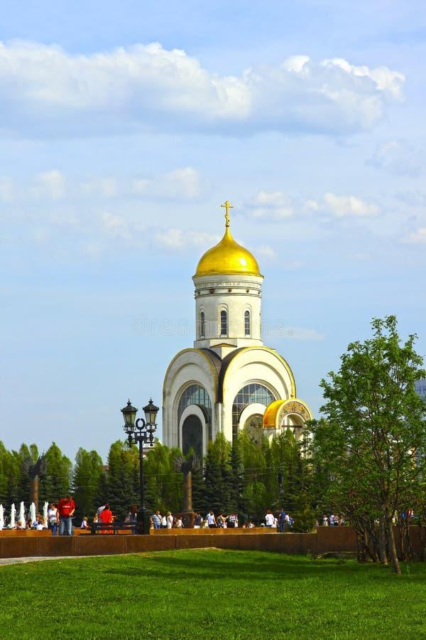 以纪念胜利的纪念教会在二战被放置了 免版税库存照片