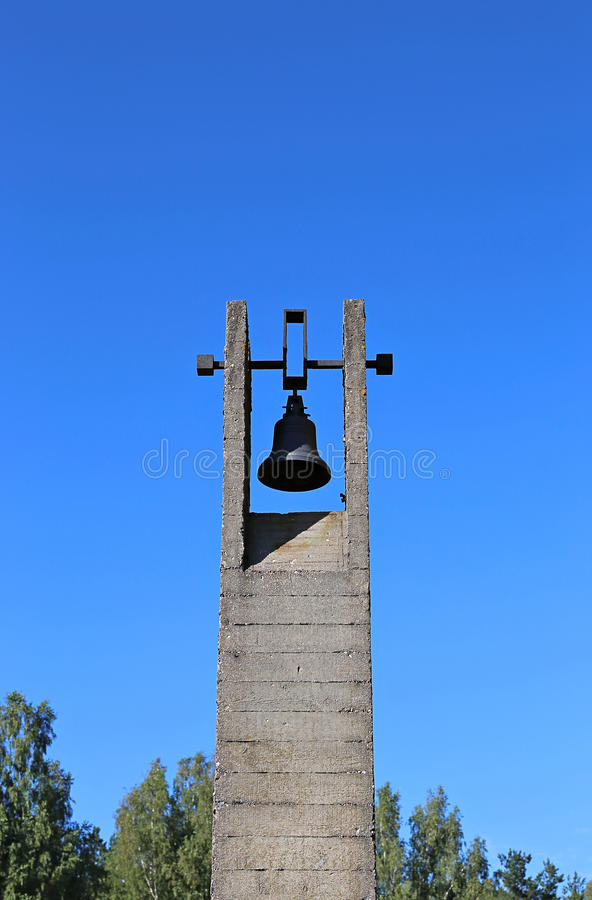 纪念葬礼响铃在Khatyn 库存图片
