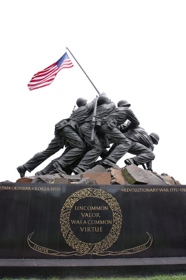 纪念阿灵顿的海军陆战队员 库存照片