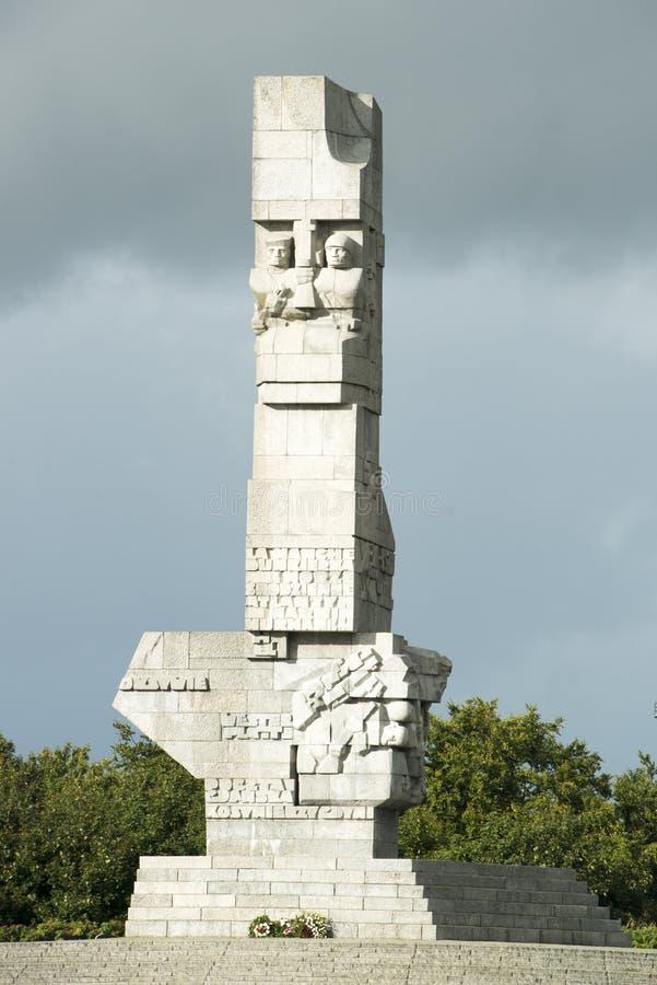 纪念Westerplatte,波兰 免版税库存照片
