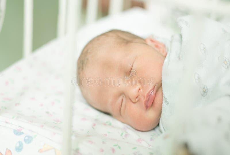年纪的婴孩五天 免版税库存照片