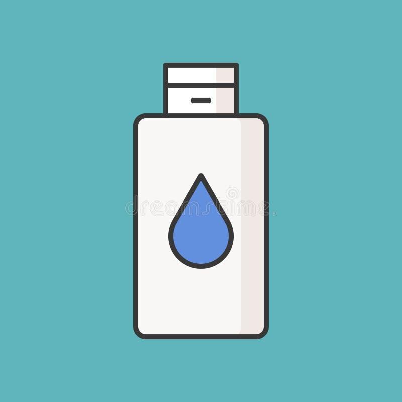 纯净水或构成去膜剂 库存例证