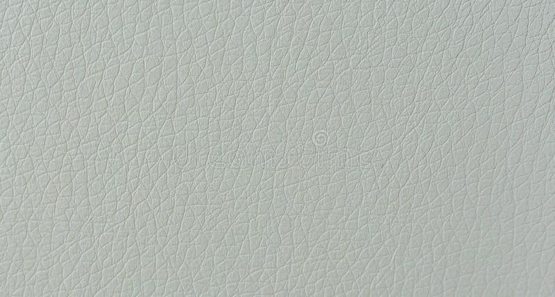 纯净的样式背景的白革皮肤纹理宏观关闭 图库摄影