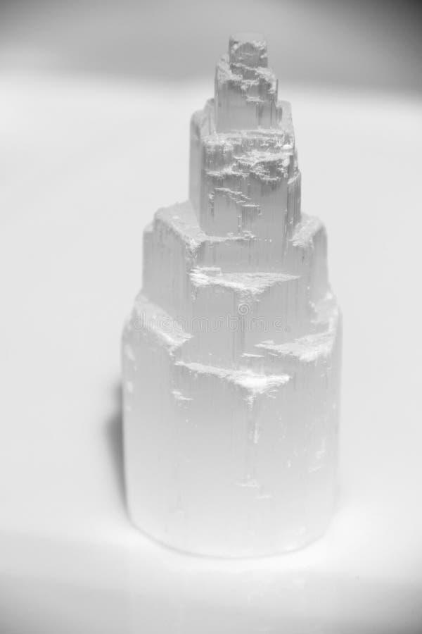纯净的水晶白色 免版税图库摄影