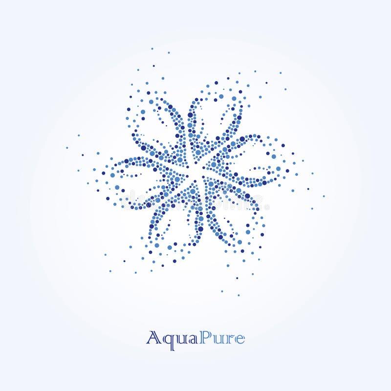 纯净的水色 秀丽水商标设计 水是健康 皇族释放例证