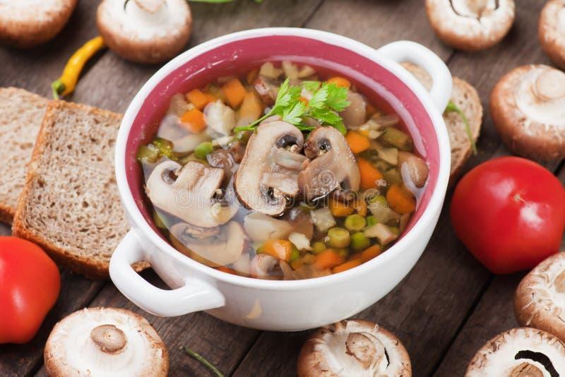 纯净蘑菇汤 库存图片