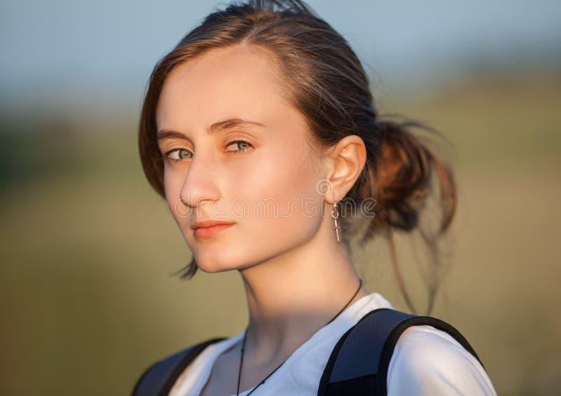 纯净,自然,美丽的少妇 图库摄影